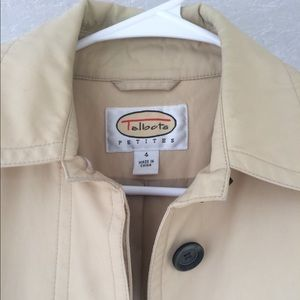 Talbots trench coat size 4. Tan.